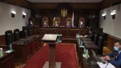 Ședința Curții Constituționale privind examinarea sesizării nr. 195a/2020 și nr. 199a/2020 privind controlul constituționalității Legii nr. 218 din 3 decembrie 2020 pentru modificarea unor acte normative