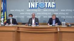 """Conferință de presă organizată de Președintele Asociației Drumarilor Antreprenori din Moldova, Boris Gherasim, cu tema """"Un apel în legătură cu informațiile Ministerului Economiei și Infrastructurii cu privire la disponibilitatea Republicii Moldova de a implementa standardele UE"""""""