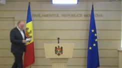 Briefing susținut de către deputatul PSRM, Vasile Bolea