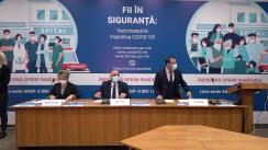 Conferință de presă organizată de Ministerul Sănătății, Muncii și Protecției Sociale privind procesul de vaccinare împotriva COVID-19 în Republica Moldova