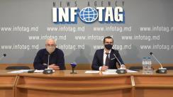 """Conferință de presă susținută de avocatul Andrei Briceac și Victor Salinschi cu tema """"Cazul lui Victor Salinschi – mostră de (in)justiție moldovenească, comunicat în mod prioritar de CEDO"""""""