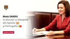 Președintele Republicii Moldova, Maia Sandu, în dialog cu diaspora din Spania și Portugalia