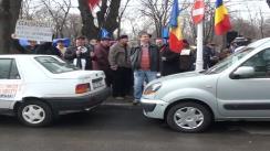 Protestul în fața Partidului Democrat Liberal