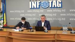 Conferință de presă susținută de președintele Comisiei pentru construcții, arhitectură și relații funciare a Consiliului Municipal Chișinău, Vasili Chirtoca