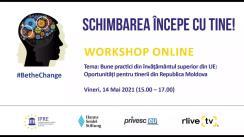 """Workshop online organizat de Institutul pentru Politici și Reforme Europene """"Bune Practici din Învățământul Superior din UE: Oportunități pentru Tinerii din Republica Moldova"""""""