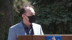 Declarații de presă susținute de premierul României Florin Cîțu la sediul Prefecturii Constanța