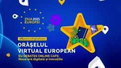 """EU Debates Cafe cu tema """"Noua era digitală și inovațiile: sprijinul UE pentru actualizarea educației, afacerilor și e-serviciilor în Moldova"""""""
