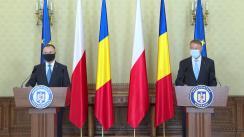 Conferință de presă comună a Președintelui României, Klaus Iohannis, și a Președintelui Republicii Polone, Andrzej Duda