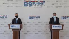 Declarația de presă comună a Președintelui României, Klaus Iohannis, și a Președintelui Republicii Polone, Andrzej Duda, la finalul Summitului Formatului București (B9)