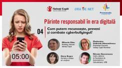 """Conferință susținută de Salvați Copiii România cu tema """"Cum putem recunoaște, preveni și combate cyberbullyingul?"""""""