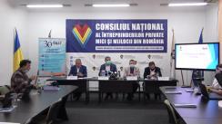 Conferință de presă comună organizată de Consiliul Național al Întreprinderilor Private Mici și Mijlocii din România și ANAT