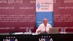 """Dezbateri publice organizată de Agenția de presă IPN  cu tema """"Atitudinea societății față de UE: motive obiective și manipulări politice și geopolitice. Situația din Moldova pe fundalul situației din Ucraina și Georgia"""", ediția a 185-a din ciclul """"Dezvoltarea culturii politice în dezbateri publice"""""""