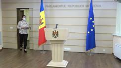 Conferința de presă a deputatei Stela Macari, Fracțiunea parlamentară ACUM Platforma DA