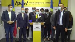 """Conferința de presă cu tema """"Partidul Acțiune și Solidaritate pornește o campanie curată, fără atacuri și cere instituțiilor să asigure alegeri libere și corecte"""""""