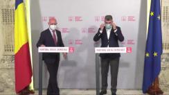 Conferință de presă susținută de președintele PSD, Marcel Ciolacu, și președintele PDM, Pavel Filip