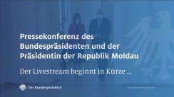 Declarație de presă susținută de Președintele RFG, Frank-Walter Steinmeier, și Președintele Republicii Moldova, Maia Sandu