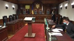Ședința Curții Constituționale pe marginea sesizării privind constituționalitatea unor prevederi din articolul 27 alin. (5) din Legea nr. 270 din 23 noiembrie 2018 privind sistemul unitar de salarizare în sectorul bugetar