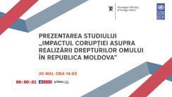 """Prezentarea studiului """"Impactul corupției asupra realizării drepturilor omului în Republica Moldova"""""""