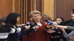 Declarații de presă a Andreei Paul în timpul Ședinței OFPDL