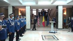 Ceremonia de acordare a distincțiilor din partea Ministerului Afacerilor Interne și Armatei Statelor Unite ale Americii jandarmilor români care au participat la Misiunea NATO din Afganistan – Resolute Suport