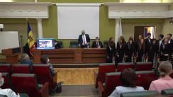 Înmânarea diplomei Doctor Honoris Causa Domnului Profesor universitar, Doctor habilitat, ES Bartłomiej Zdaniuk, Ambasador Extraordinar și Plenipotențiar al Republicii Polone în Republica Moldova