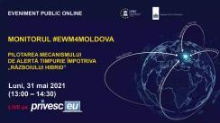 """Eveniment Public Online organizat de Institutul pentru Politici și Reforme Europene cu titlul """"Pilotarea mecanismului de alertă timpurie împotriva """"războiului hibrid"""""""