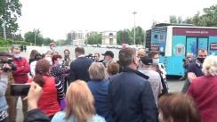 Lansarea primelor 2 puncte de vaccinare mobile: un troleibuz și un autobuz