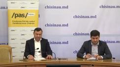 """Conferința de presă organizată de Fracțiunea PAS din CMC cu tema """"Fracțiunea PAS solicită anularea majorării impozitului pentru bunurile imobiliare"""""""