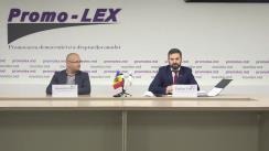 """Conferință de presă organizată de Asociația Promo-LEX cu tema """"Moldova și Rusia în vizorul CtEDO pe cauza interdicției accesului în regiunea transnistreană a juriștilor Promo-LEX"""""""