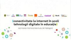 Semnarea Memorandumului de Înțelegere pentru Susținerea conectivității la Internet în Școli și utilizarea tehnologiilor digitale în educație