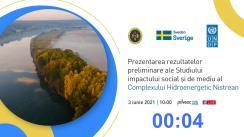 Prezentarea rezultatelor preliminare ale Studiului impactului social și de mediu al Complexului Hidroenergetic Nistrean