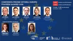 """Dezbaterea online """"Conferința privind Viitorul Europei: Prioritățile Societății Civile"""", organizată împreună cu Reprezentanța Comisiei Europene în România și Europuls - Centrul de Expertiză Europeană"""