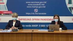 """Eveniment organizat de Ministerul Sănătății, Muncii și Protecției Sociale cu tema """"Vaccinarea împotriva COVID-19: între mituri și realitate"""""""