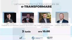 Lansarea platformei educaționale de e-Transformare