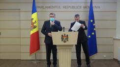 Briefing susținut de deputații Iurie Reniță și Octavian Țîcu, pe subiecte de actualitate politică și juridică