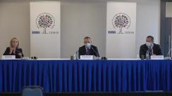 Conferință de presă organizată de Observatorii de la Biroul OSCE pentru Instituții Democratice și Drepturile Omului (BIDDO) privind începerea misiunii de observare a alegerilor parlamentare anticipate în Republica Moldova