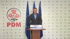 Briefing de presă susținut de Vicepreședintele PDM, Alexandru Pînzari, ex-ministru al Apărării, de prezentare a viziunii PDM inclusă în Planul de țară MOLDOVA ALTFEL privind dezvoltarea domeniului Apărării