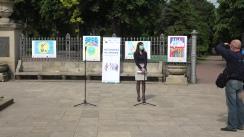 """Inaugurarea expoziției de desene """"Vaccinurile ne apropie"""""""