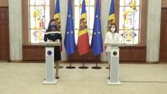 Declarații de presă susținute de Președintele Republicii Moldova, Maia Sandu, și Directorul general-adjunct pentru Politica de vecinătate și negocierile de extindere, Katarína Mathernová
