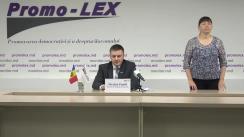 Conferința de presă organizată de Asociația Promo-LEX de lansare a Raportului nr. 3 privind Misiunea de Observare a Alegerilor parlamentare anticipate din 11 iulie 2021
