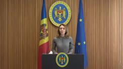 """Briefing de presă susținut de Viceprim-ministra în exercițiu pentru reintegrare, Olga Cebotari, cu privire la rezultatul întrevederii cu reprezentanți ai mediatorilor și observatorilor (așa-numitul format """"3+2"""") din cadrul Conferinței permanente pe probleme politice în procesul de reglementare transnistreană (formatul de negocieri """"5+2"""")"""