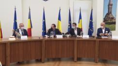 Conferință de presă susținută de Prim-ministrul României, Florin Cîțu, la sediul Consiliului Județean Maramureș, Baia Mare