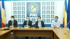 Conferință de presă susținută de președintele PNL, Ludovic Orban la sediul PNL Arad
