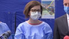 Declarații de presă susținute de Ministrul Sănătății, Ioana Mihăilă, după vizita in județul Vrancea