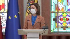 Briefing de presă susținut de Președintele Republicii Moldova, Maia Sandu, privind lansarea Comitetului Consultativ Independent Anticorupție