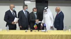 Evenimentul de donație a unui lot de echipamente medicale destinate combaterii pandemiei COVID-19, oferit de Statul Qatar