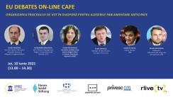 """EU Debates Cafe organizat de Institutul pentru Politici și Reforme Europene cu tema """"Organizarea procesului de vot în diasporă pentru alegerile parlamentare anticipate"""""""