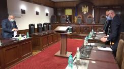 Ședința Curții Constituționale referitoare la sesizarea privind controlul constituționalității unor prevederi din articolul I, punctul 1 din Legea nr. 193 din 20 decembrie 2019 pentru modificarea unor acte legislative și a Hotărârii Parlamentului privind numirea unor membri ai Consiliului Superior al Magistraturii nr. 53 din 17 martie 2020