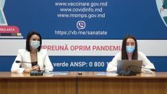 """Eveniment organizat de Ministerul Sănătății, Muncii și Protecției Sociale cu tema """"Vaccinurile împotriva COVID-19: Etapele de dezvoltare, eficiența și siguranța acestora"""""""