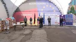 Ceremonia de înmânare a unui lot de asistență considerabil din partea Guvernului Germaniei pentru Republica Moldova în lupta cu pandemia de COVID-19
